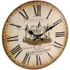 Chateau De La Tour Wall Clock, Shabby chic £9.00