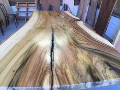 Wood Slab Table, Wood Table Design, Wood Tables, Live Edge Furniture, Log Furniture, Live Edge Wood, Live Edge Table, Barn Wood, Rustic Wood