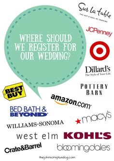 Top places to register for a wedding weddings wedding and top places to register for a wedding weddings wedding and wedding bells junglespirit Image collections