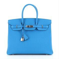 Hermes | Hermès Birkin Ladies handbag Bleu Zanzibar Epsom Along with Palladium Hardware 35 #hermeshandbagsLindy #hermeshandbagsChic #hermeshandbagsGirls #hermeshandbagsSize #hermeshandbagsBlack Birkin 25, Hermes Birkin, Birkin Bags, Brown Leather Satchel, Leather Crossbody Bag, Beige Shoulder Bags, Brown Backpacks, Hermes Handbags, Hardware