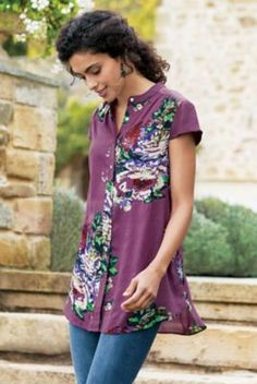 Petites Bouquet of Roses Tunic from Soft Surroundings