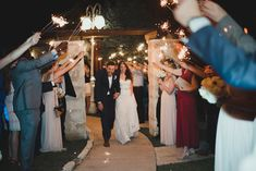 @vintagevillastx Travis Room sparkler exit  Photo by @ninephotography
