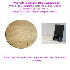 5 prizes from Baumatic - closing date unknown Salt Pepper Shakers, Competition, Boards, My Love, Drink, Group, Facebook, Twitter, Amazing