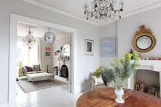 How To Create Modern Victorian Interiors by Zoe Clark Living Room Inspiration, Living Dining Room, Open Plan Living Room, Home Living Room, Modern Room, House Living Room Modern, Victorian Interiors, Living Room Furniture, Victorian Living Room