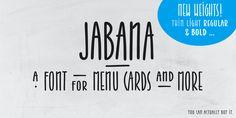 Jabana - Webfont & Desktop font « MyFonts