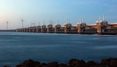 Holland - The Eastern Scheldtstorm surge barrier.