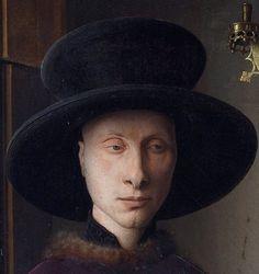 Detail of Giovanni Arnolfini - from The Arnolfini Portrait, 1434, by Jan Van Eyck