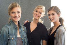 Constance Jablonski, Toni Garnn & Kendra Spears #backstage @ Ermanno Scervino SS13 #MFW