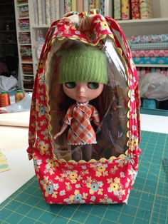 Blythe Doll Carrier Tote BackPack by GrannyBz on Etsy, $75.00