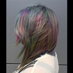 #fbf Flashback to • Opulence Opal • #ilikeprettyhair #opalhair #trending #hairpainting #hairismycanvas #hairbrained #hairnerd #btcpics #gobreck #breckenridge #exploresummit #sumco #behindthechair #modernsalon #americansalon #unicorntribe #mermaidians #Coloradophotography #effboringhair #hothair757 #dyeddollies