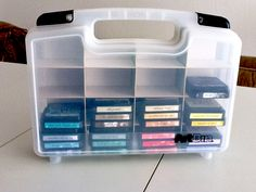 Distress Ink storage- Love the creative use of this box.