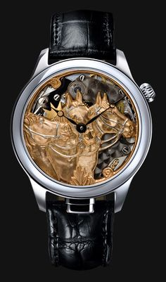 NIVREL Repeater watch 'Piece Unique', model Horses, Reference N 950.001.