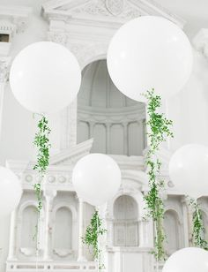 giant round balloon with greenery - Google Search