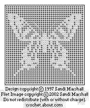 Zebra Swallowtail Butterfly Free Chart For Filet and Cross-stitch