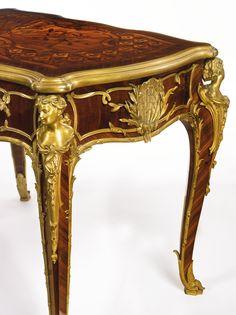 François LinkeFrench, 1855 - 1946A rare Louis XV style gilt bronze-mounted kingwood, satiné and floral bois de bout marquetry table à écrireParis, circa 1923, index number 930