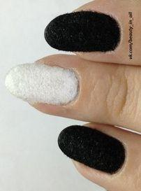 Tutorial: Black and White Velvet Nail Art Design - Click the image for the Tutorial All Things Beauty, Beauty Make Up, Velvet Nails, The Art Of Nails, Classic Tuxedo, White Velvet, Color Art, Pedicures, Cool Nail Designs
