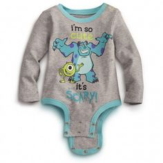 So Cute MONSTERS INC. Disney Cuddly Bodysuit.. lalaLOVE it <3