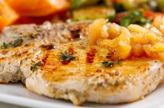 PALEO APPLE PORK CHOPS. Wanna give this recipe a shot? - http://www.paleoaholic.com/paleo/paleo-apple-pork-chops/