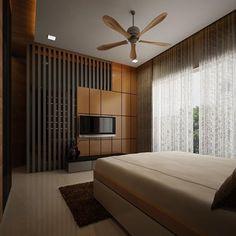 Contemporary Tv Units, Contemporary Interior Design, Home Interior Design, Lobby Interior, Tv Unit Design, Tv Wall Design, Bed Design, Tv In Bedroom, Modern Bedroom