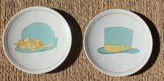 platos porcelana pintados a mano