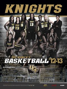 2012-13 UCF Women's Basketball schedule poster