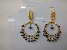 Blck beads Jewelry Design Earrings, Gold Earrings Designs, Gold Jewellery Design, Bead Jewellery, Real Gold Jewelry, Gold Jewelry Simple, Baby Items, Beads, Collection