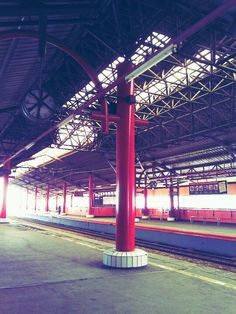 Train station. Jayakarta. Indonesia.