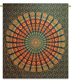 Mandala Beach Bohemian Tapestry Hippie Wall Art Cotton 92X82 Indian Gift *** Find out more about the great product at the image link.