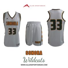 14e54ccba Sonora Wildcats Girls Basketball Team completes their home and away custom  look with our sublimated long