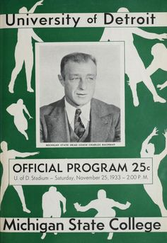 1933 University of Detroit vs. Michigan State College Football program