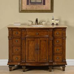 Shop for Silkroad Exclusive Travertine Stone Top Bathroom Single Sink Vanity. Get free delivery at Overstock.com - Your Online Furniture Outlet Store! Get 5% in rewards with Club O! - 17360633