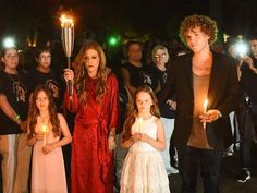 Lisa and her children bringing the torch; very touching moment.