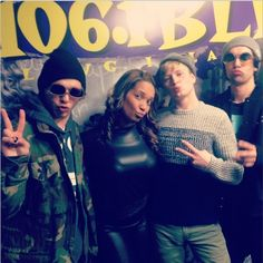 """#viaastraontheair Listening To Astra On 106.1 BLI """"Doin the #duckface with the guys from @newhollow - they did an AMAZING #acoustic set! Check em out! CC: @newhollowband on twitter"""""""