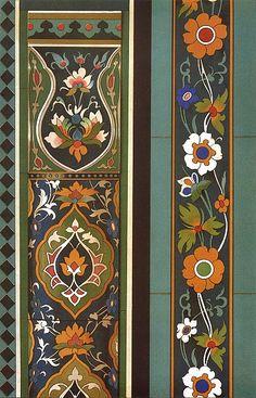 Catalog No SIM 023 Publication L'art de l'Asie Centrale Author N Simakoff Year 1883 Islamic Patterns, Textile Patterns, Pattern Art, Pattern Design, Art Nouveau, Motif Oriental, Iranian Art, Plant Illustration, Islamic Calligraphy