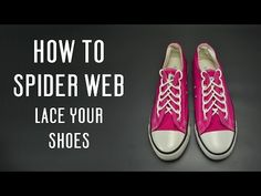 How to Diamond Lace shoes - YouTube