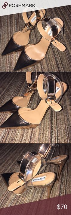 Rose Gold Steve Madden heels Rose gold; worn ONCE. Steve Madden Shoes Heels