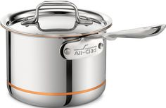 All-Clad 6202 SS Copper Core 5-Ply Bonded Dishwasher Safe Saucepan / Cookware, 2-Quart, Silver ** Read more reviews of the product by visiting the link on the image.