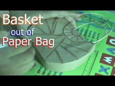 How to Make Basket out of Waste Paper Bag after Shopping
