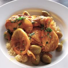 Moroccan Chicken Tagine with Lemons and Olives