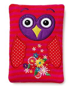 Take a look at this Pink & Red Owl Cozy Cushion by NPW on #zulily today! $12 !!