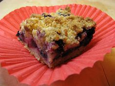 The Well-Fed Newlyweds: Spiked Blueberry Crumb Bars