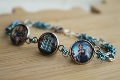 Handcrafted 13th Doctor bracelet. In collaboration with @fenglerschainmaille (Etsy/Instagram).  Made by hand from a Doctor Who comic book. I use all the pages from the book that I can and recycle the rest.