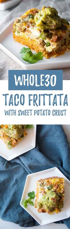 Whole30 Taco Frittata with Sweet Potato Crust   easy, healthy, egg bake, paleo, turkey, tex-mex, low carb, green peppers, onions, veggies, gluten free, grain free, diary free   hungrybynature.com