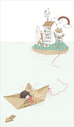 Sail away on a paper boat