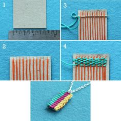 DIY: miniature weaving -- this takes me all the way back to 6th grade art class.