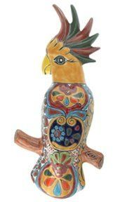 "Talavera Wall Parrot - 14""H x 6.50""W by Tierra Fina. $22.95. Mexican Talavera. Handpainted with a touch of nature this Talavera Bird will add character to garden or home.If selected pattern is out of stock the next available in stock pattern will be chosen at random and shipped."