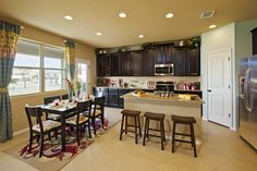 Enjoy family dinners in this spacious kitchen at Champions Park - Unit 8 #MeritageHomes #SanAntonio