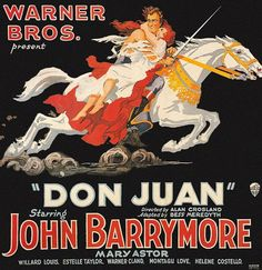 An old silent film movie poster - Don Juan