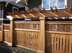 Craftsman Style Remodel   Craftsman Style Fence Design Ideas, Pictures, Remodel, and Decor