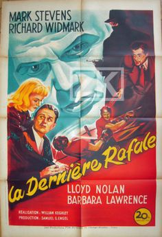 THE-STREET-WITH-NO-NAME-Derniere-rafale-WIDMARK-Film-Noir-Boxe-Affiche-1948